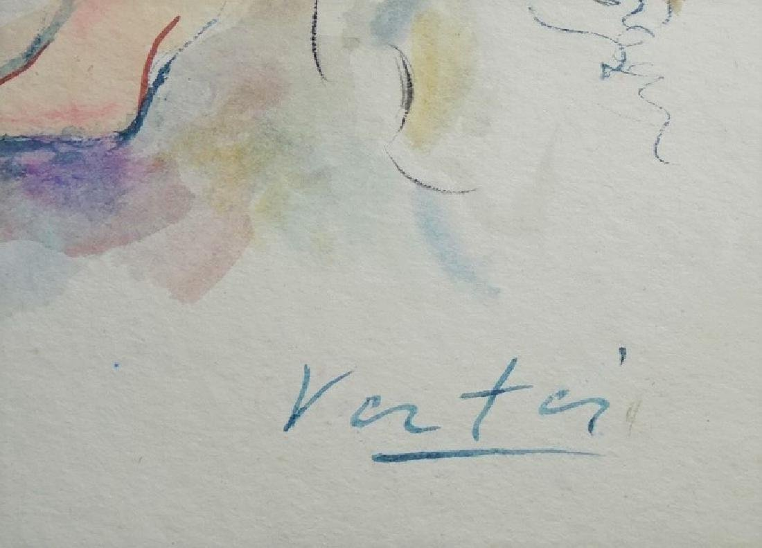 MARCEL VERTES ORIGINAL WATERCOLOR ON PAPER - 3