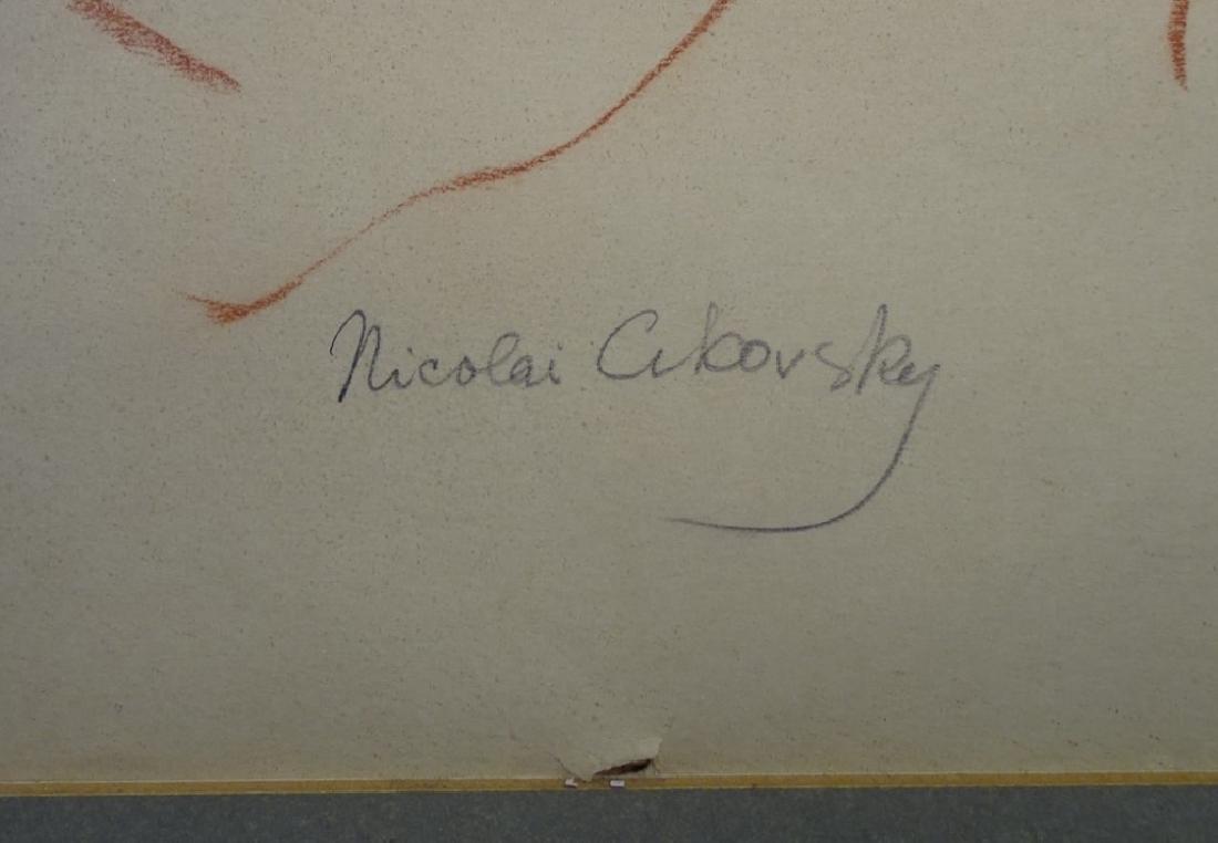 ATTR. NICOLAI CIKOVSKY CRAYON ON PAPER NUDE STUDY - 3