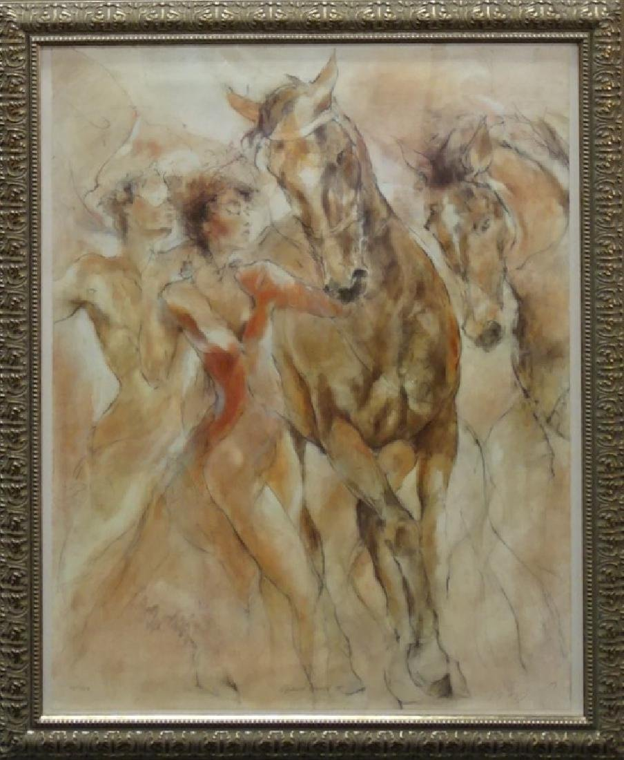 """GARY BENFIELD """"EQUINE DANCE II"""" COLOR LITHOGRPAH"""