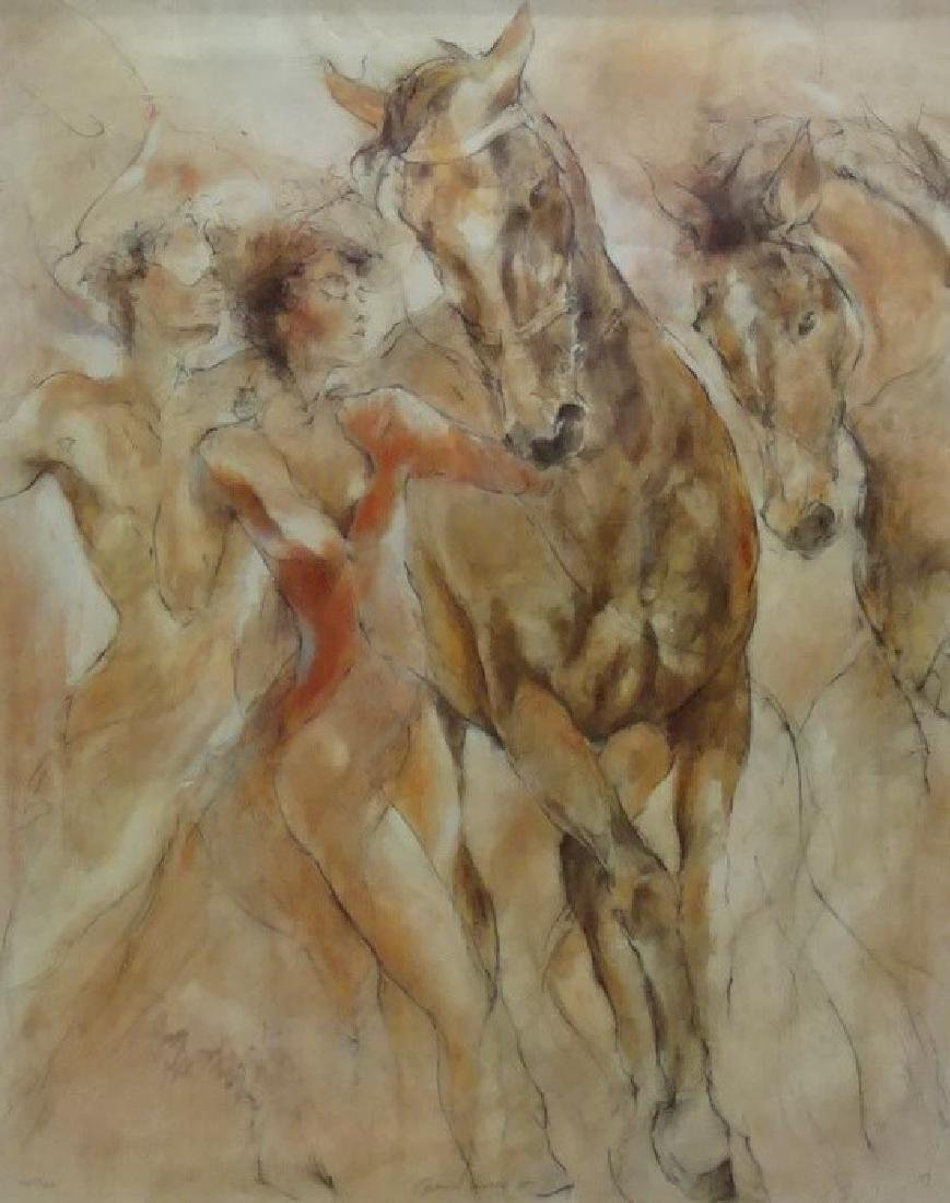 """GARY BENFIELD """"EQUINE DANCE II"""" COLOR LITHOGRPAH - 2"""