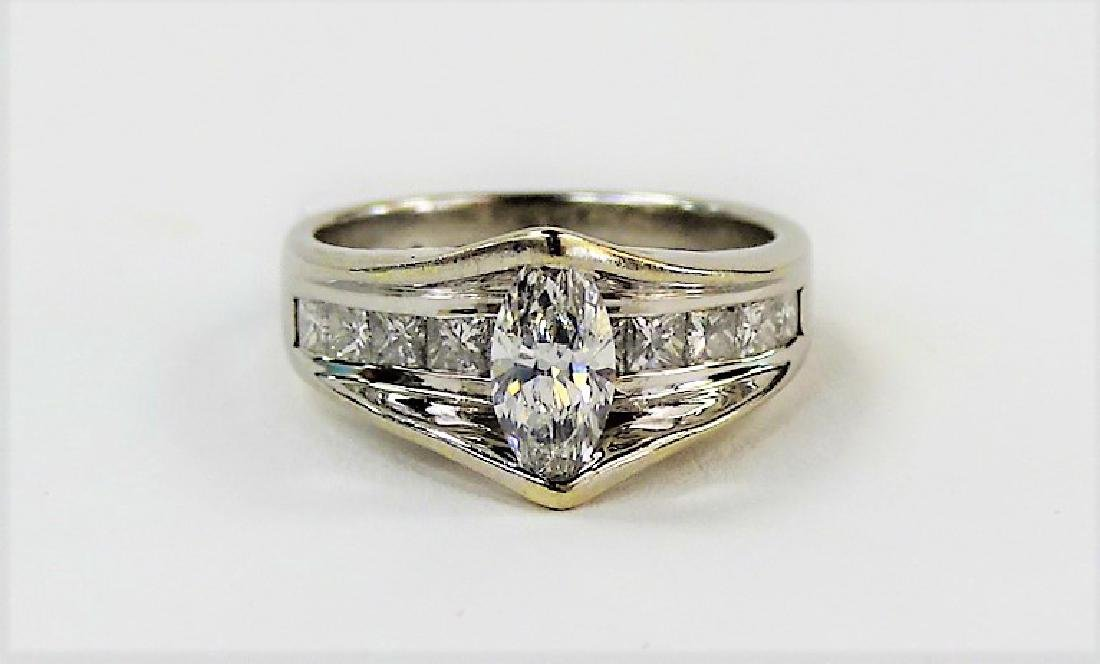 LADIES STUNNING 14KT WG DIAMOND RING - 2