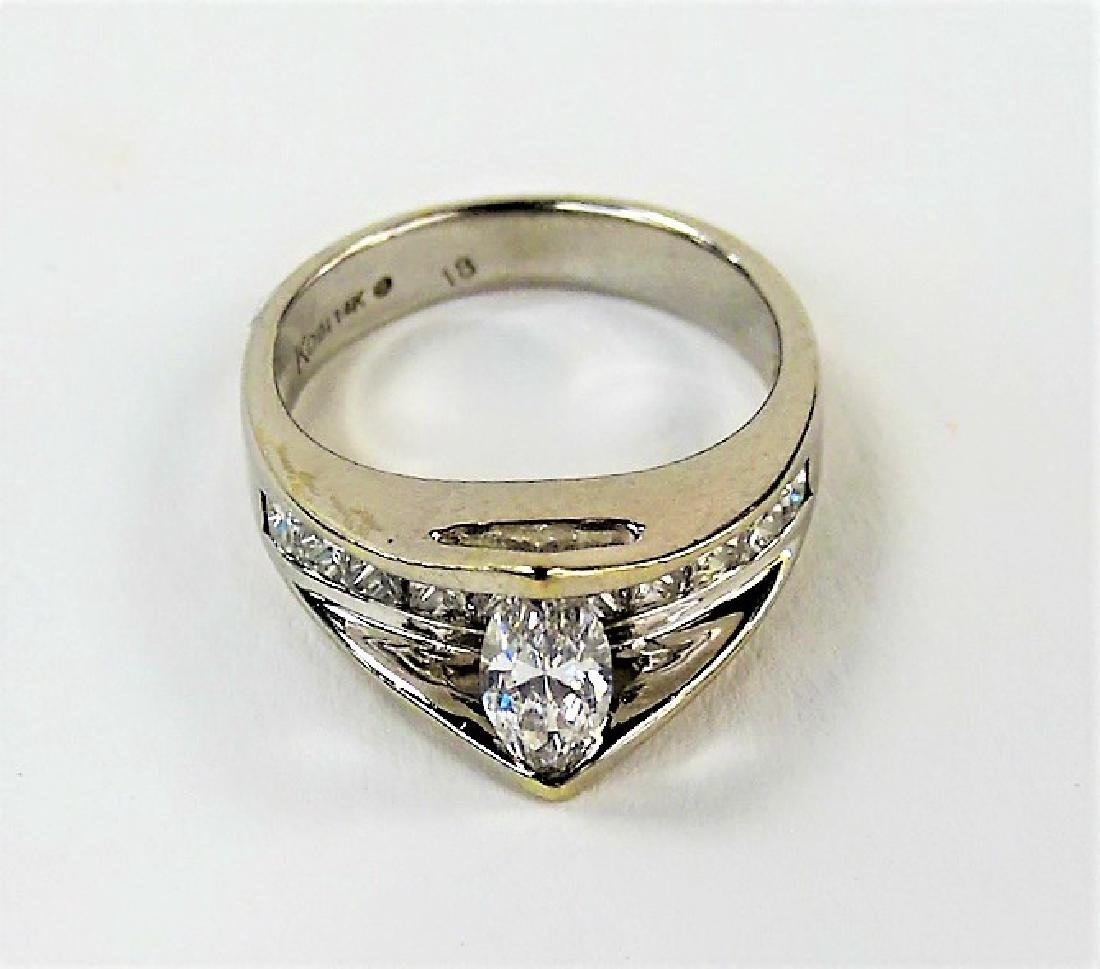 LADIES STUNNING 14KT WG DIAMOND RING - 3