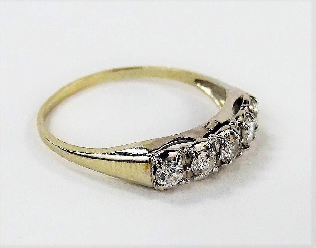 LADIES VINTAGE 14KT WHITE GOLD DIAMOND RING - 2