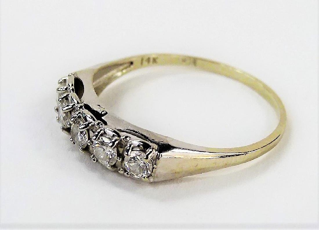 LADIES VINTAGE 14KT WHITE GOLD DIAMOND RING - 3