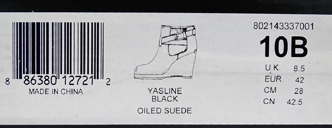 PR RALPH LAUREN YASLINE BLACK OILED SUEDE BOOTS - 4