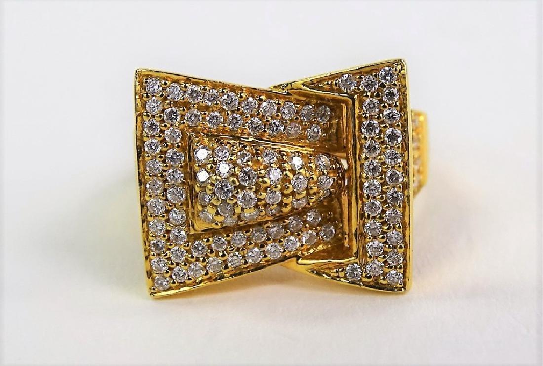 RETRO LADIES 14KT ROSE GOLD DIAMOND RING