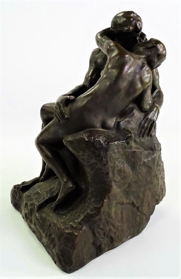 """AFTER A. RODIN """"THE KISS"""" BRONZE REPRODUCTION - 2"""