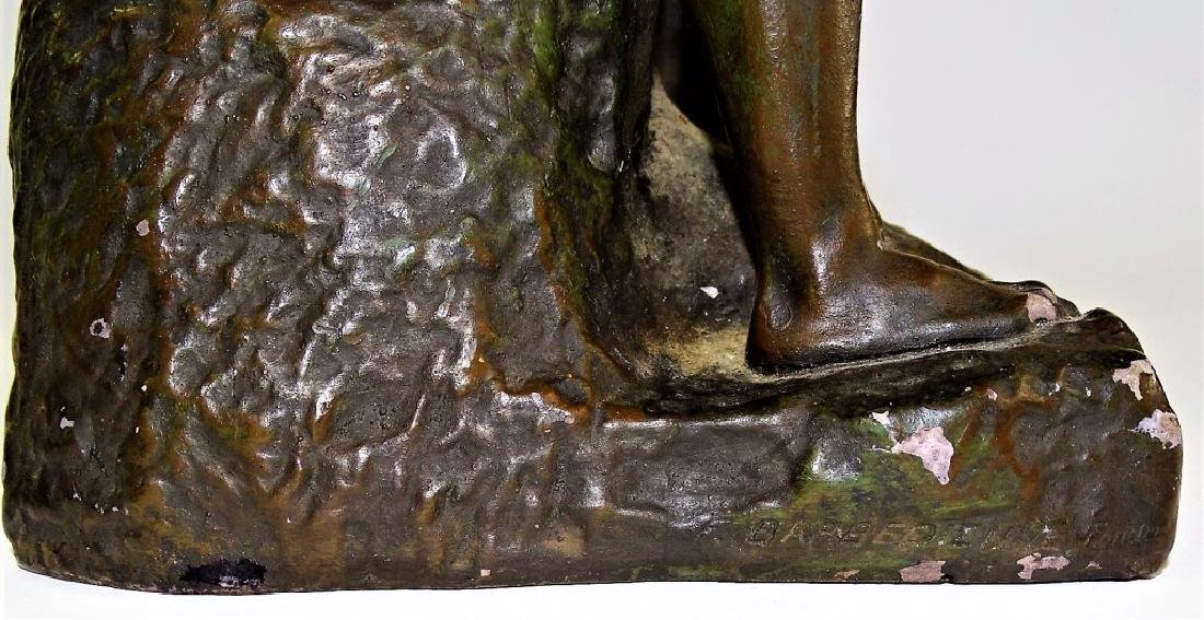 """AFTER A. RODIN """"THE KISS"""" BRONZE REPRODUCTION - 7"""