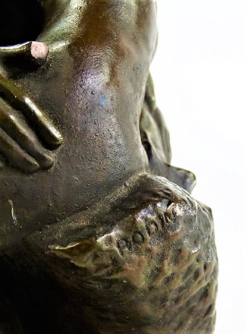 """AFTER A. RODIN """"THE KISS"""" BRONZE REPRODUCTION - 8"""