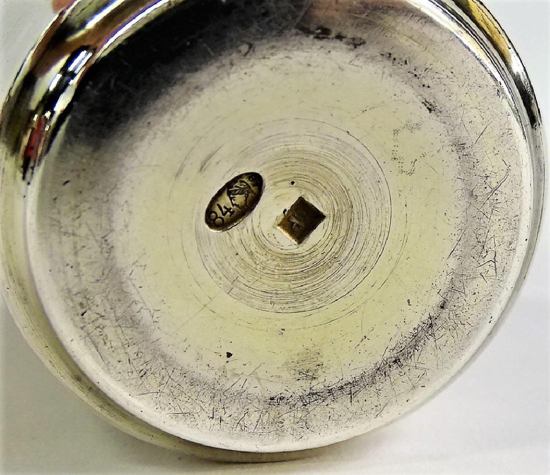 ANTIQUE RUSSIAN 84 SILVER ENGRAVED KIDDUSH CUP - 3