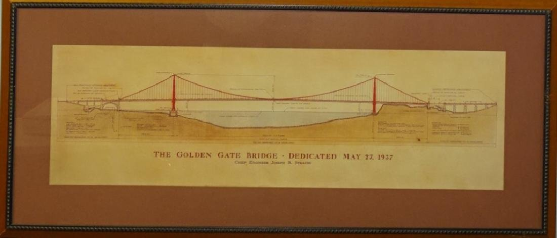 ANTIQUE GOLD GATE BRIDGE CIVIL ENGINEER PRINT