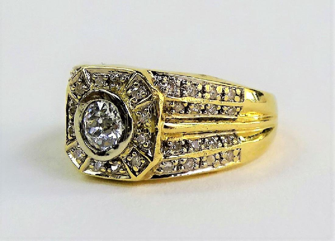 FABULOUS MEN'S 14KT YG DIAMOND PINKY RING - 3
