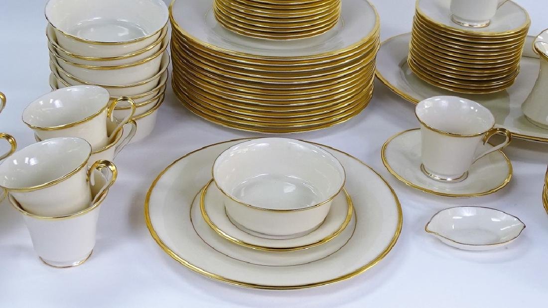 "93PC LENOX ""ETERNAL"" PORCELAIN DINNERWARE SET - 2"