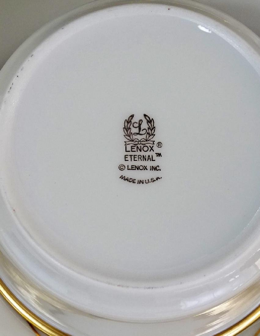 "93PC LENOX ""ETERNAL"" PORCELAIN DINNERWARE SET - 3"