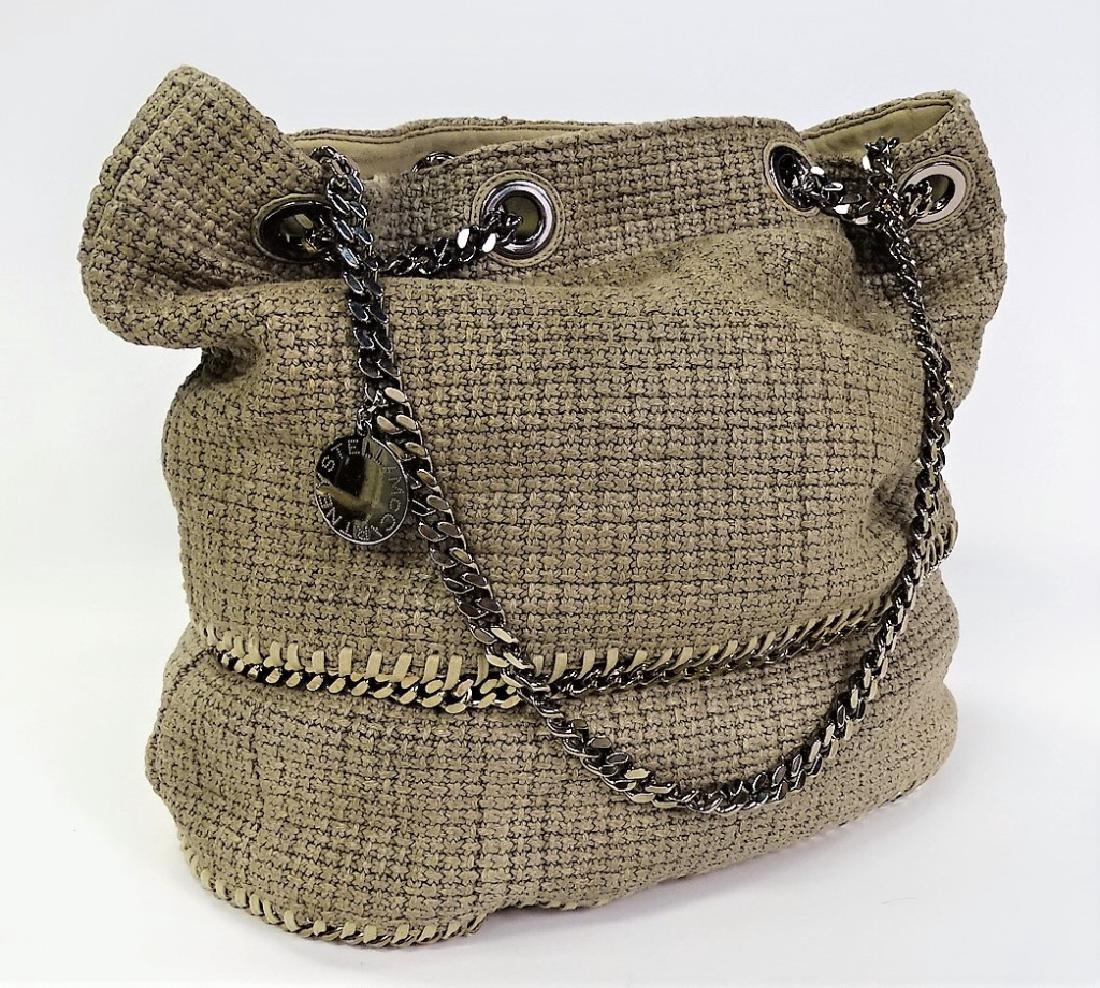 STELLA MCCARTNEY WOVEN LINEN BUCKET BAG