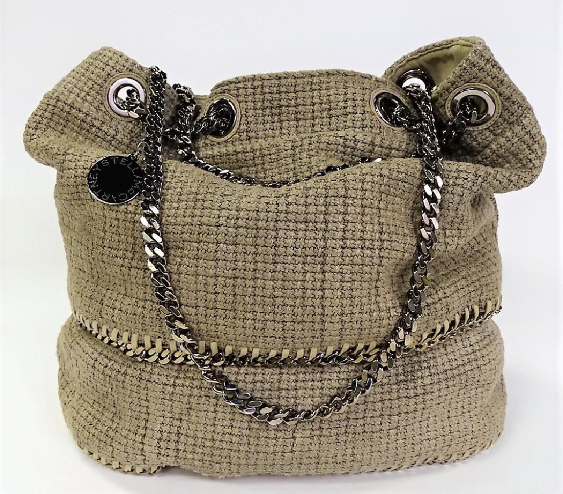 STELLA MCCARTNEY WOVEN LINEN BUCKET BAG - 2