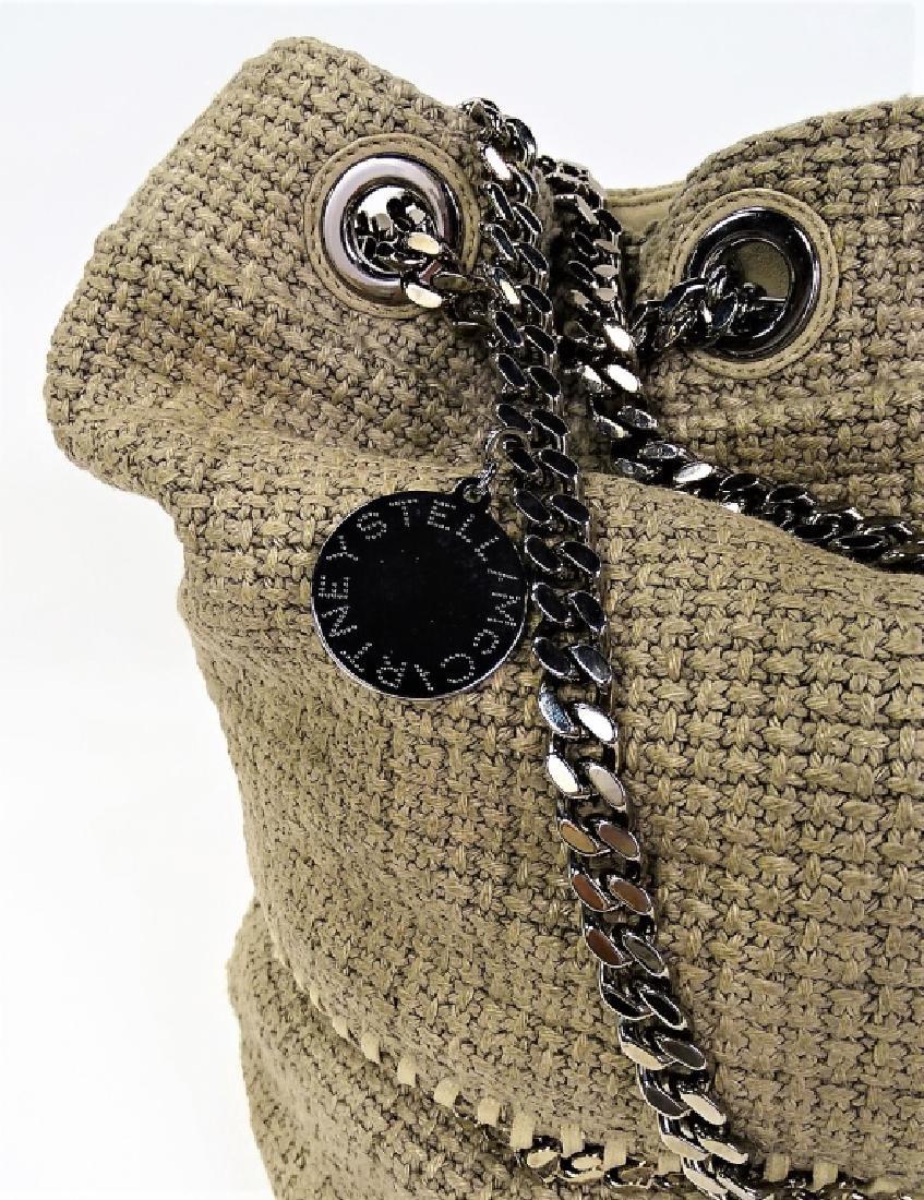 STELLA MCCARTNEY WOVEN LINEN BUCKET BAG - 3
