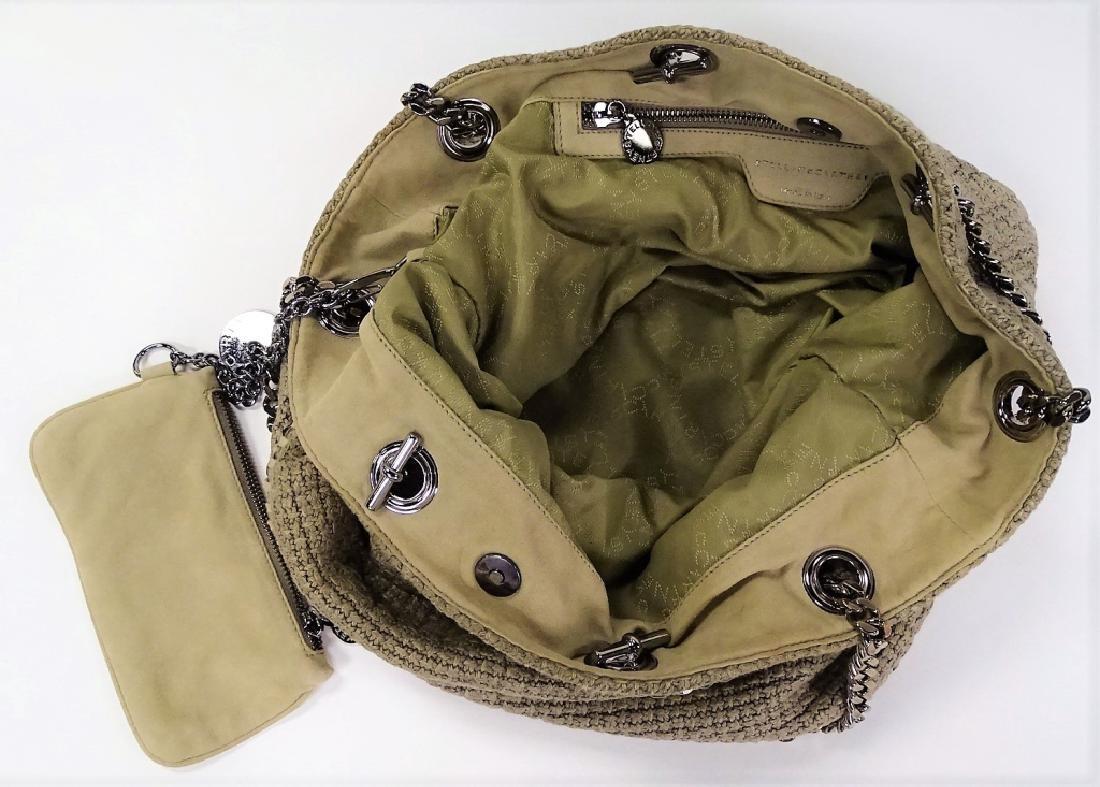 STELLA MCCARTNEY WOVEN LINEN BUCKET BAG - 4
