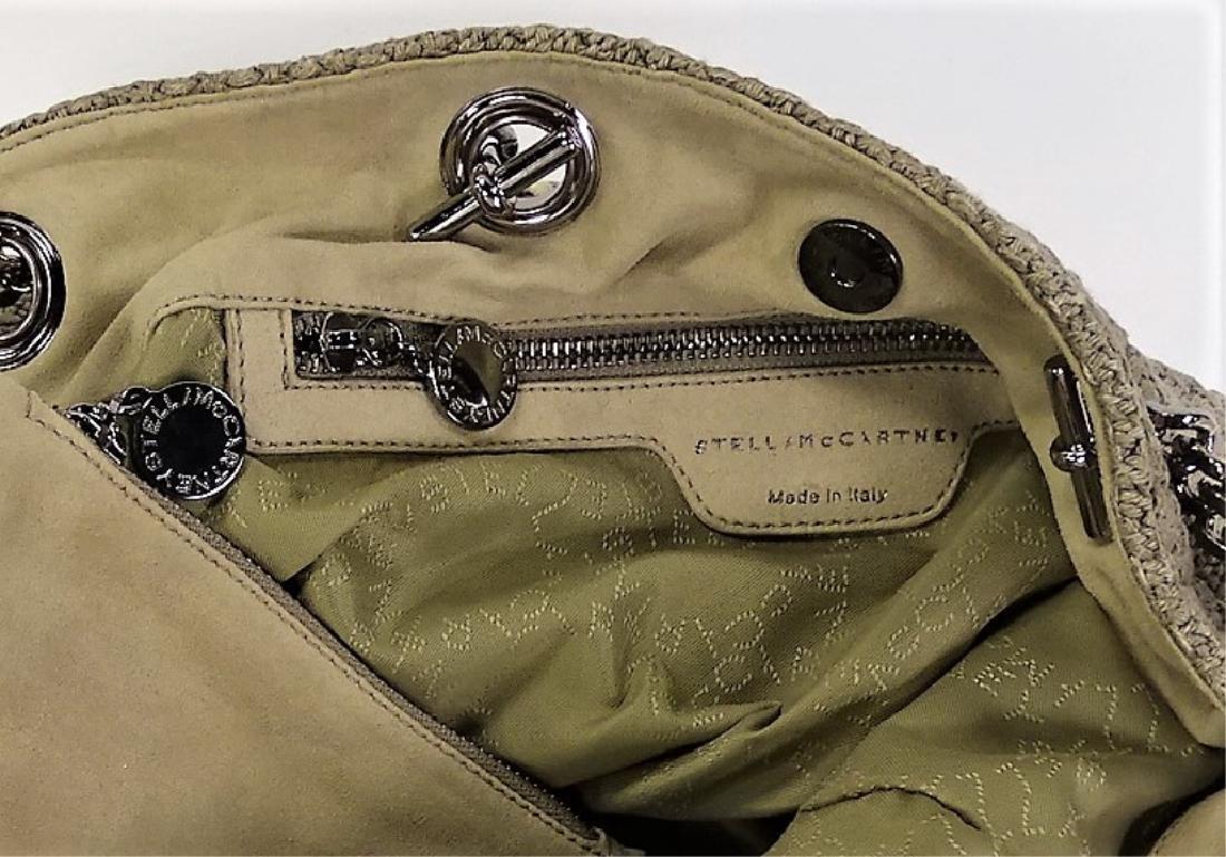 STELLA MCCARTNEY WOVEN LINEN BUCKET BAG - 5