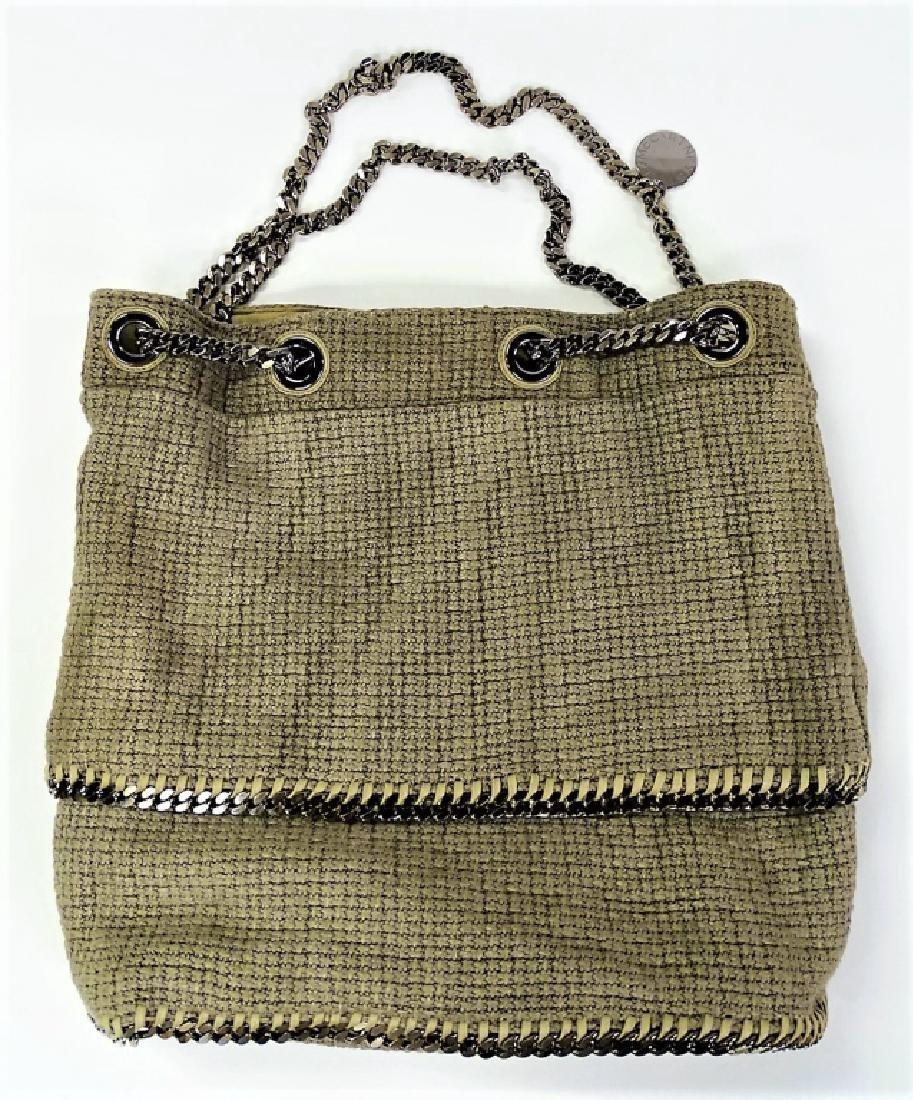 STELLA MCCARTNEY WOVEN LINEN BUCKET BAG - 6