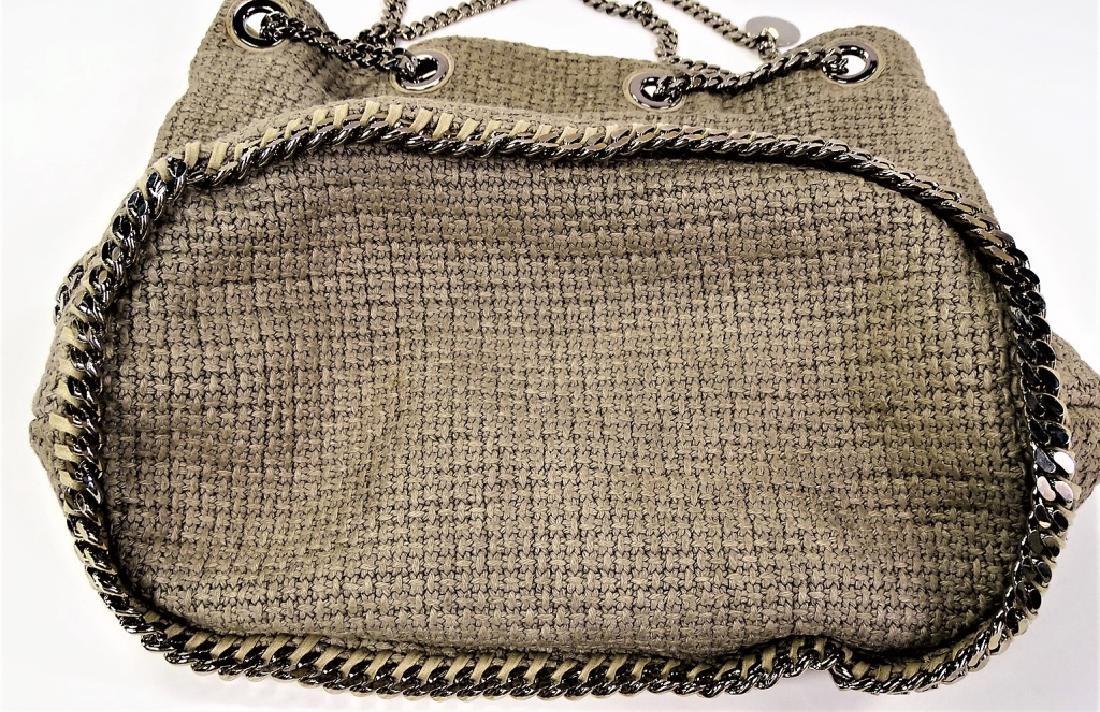 STELLA MCCARTNEY WOVEN LINEN BUCKET BAG - 7