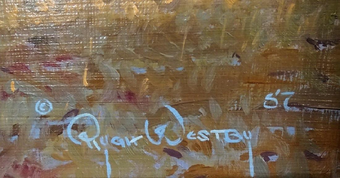 RYGH WESTBY ORIGINAL WESTERN OIL ON MASONITE - 2