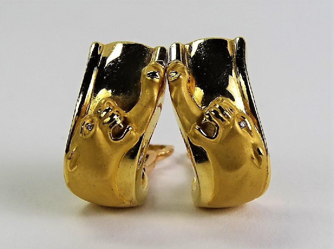 CARRERA Y CARRERA 18KT GOLD PANTHER EARRINGS