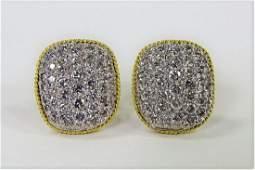 PR LADIES FANCY 14KT WG 160CT DIAMOND EARRINGS