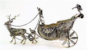 CONTINENTAL SILVER FIGURAL SWEET MEAT CADDY