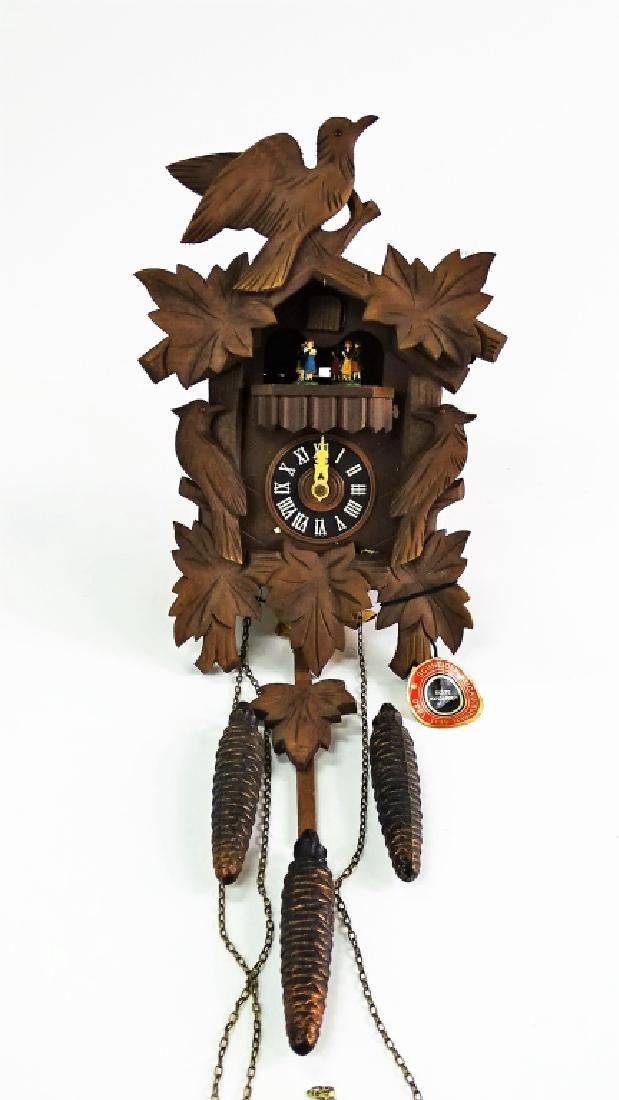 ANTON SCHNEIDER SOHNE GERMAN CARVED CUCKOO CLOCK