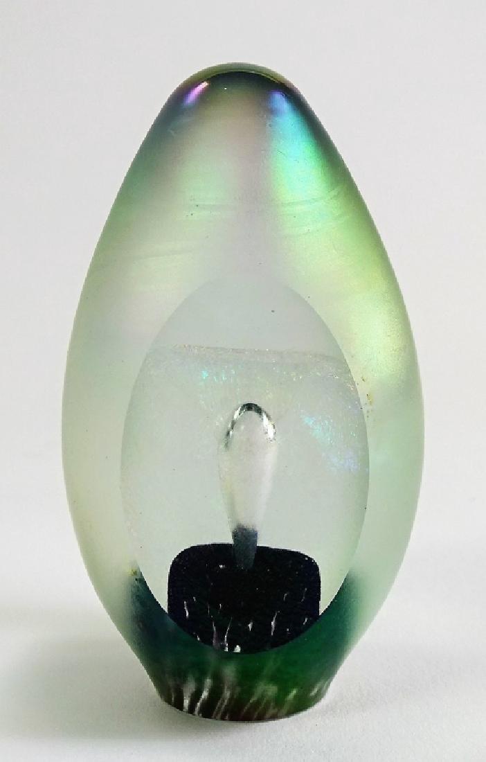 VINTAGE EICKHOLT STUDIO ART GLASS PAPERWEIGHT
