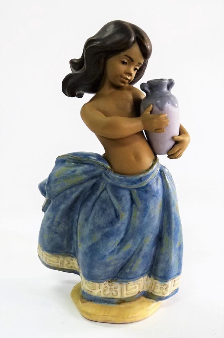LLADRO PORC. 'LITTLE PEASANT GIRL' FIGURINE #2331