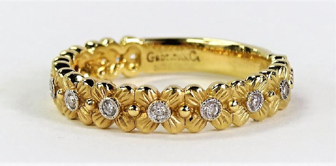 WONDERFUL GABRIEL & CO. 14KT YG DIAMOND BAND RING