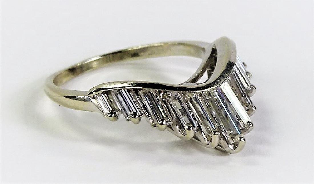 DECO 14KT WHITE GOLD 1CT BAGUETTE DIAMOND RING