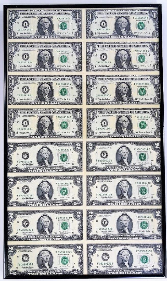 TWO 1995 SERIES UNCUT SHEETS OF US CURRENCY