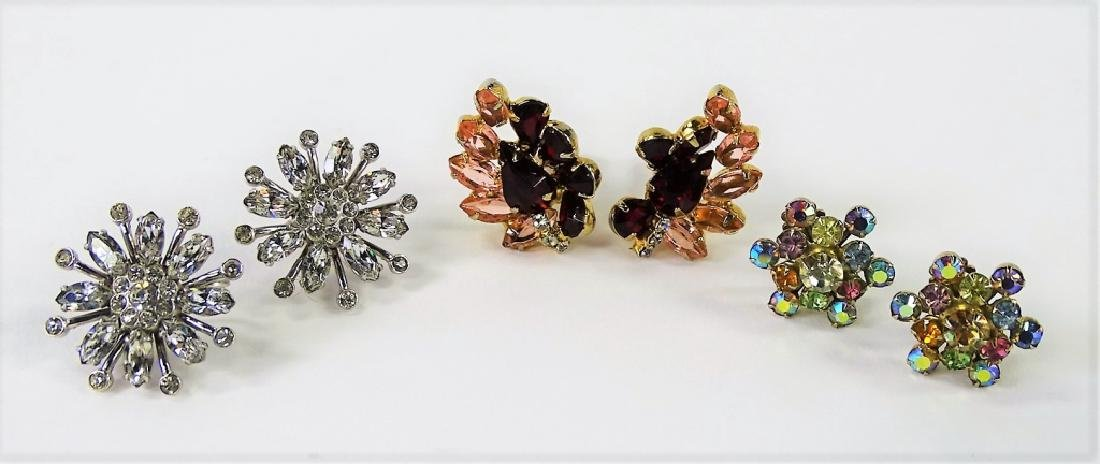 VTG SIGNED COSTUME EARRINGS TO INC. CORO & WEISS