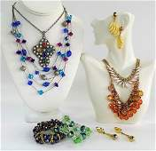 LOVELY 8 PIECE COSTUME JEWELRY LOT