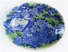 ANTIQUE CHINESE BLUE & WHITE PORCELAIN PLATTER