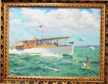 FRANK GODWIN ORIGINAL SEASCAPE OIL ON BOARD