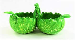 RARE DODIE THAYER DOUBLE SIDED LETTUCE WARE BOWL