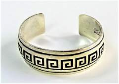 VTG EVERETT  MARY TELLER NAVAJO STERLING CUFF