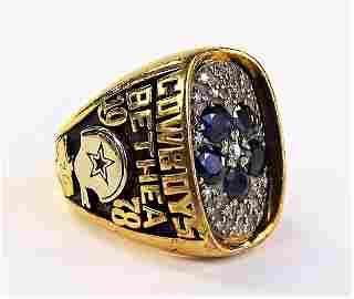 1978 LARRY BETHEA DALLAS COWBOY NFC CHAMPION RING