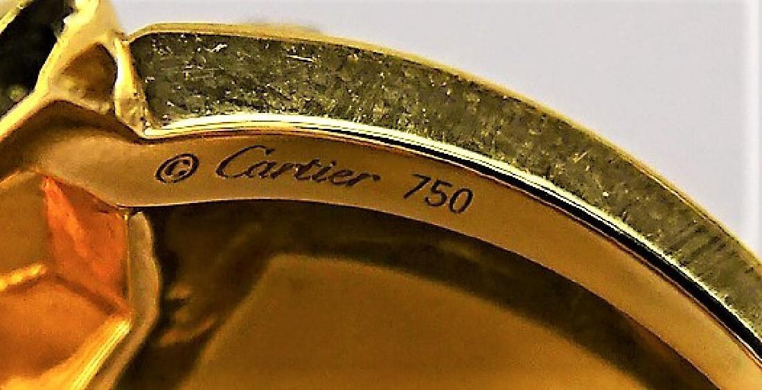 RARE CARTIER PANTHERE 18K GOLD DIAMOND & ONYX RING - 7