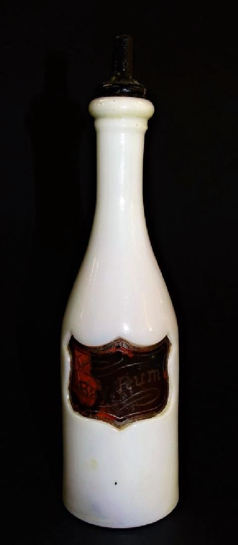 Milk glass bay rum barbers bottle antique milk glass bay rum barbers bottle floridaeventfo Gallery