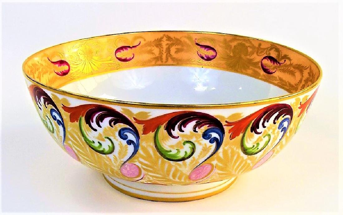EARLY 19TH C. ROYAL CROWN DERBY H/P PORCELAIN BOWL
