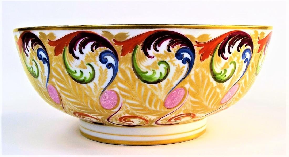 EARLY 19TH C. ROYAL CROWN DERBY H/P PORCELAIN BOWL - 2