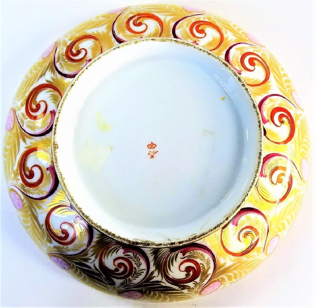 EARLY 19TH C. ROYAL CROWN DERBY H/P PORCELAIN BOWL - 4