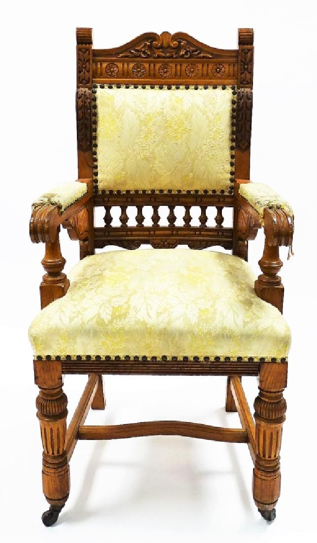 8 BIRD'S EYE MAPLE UPHOLSTERED DINING CHAIRS - 4