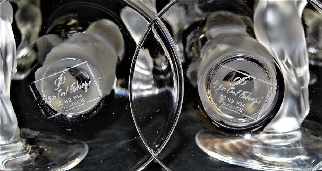 12 FABERGE KISSING DOVES CHAMPAGNE FLUTE GLASSES - 3