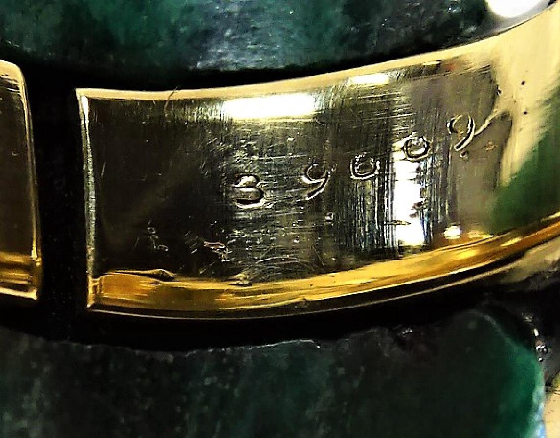A. CIPULLO CARTIER 18K YELLOW GOLD & MALACHITE RING - 7